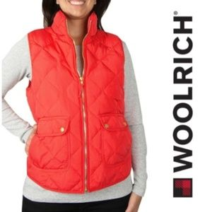NWT Woolrich Quilted Down Vest in Poppy Red